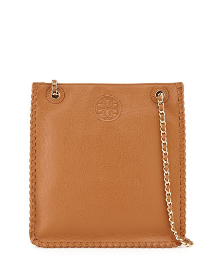 Tory Burch Marion North-South Shoulder Bag, Bark