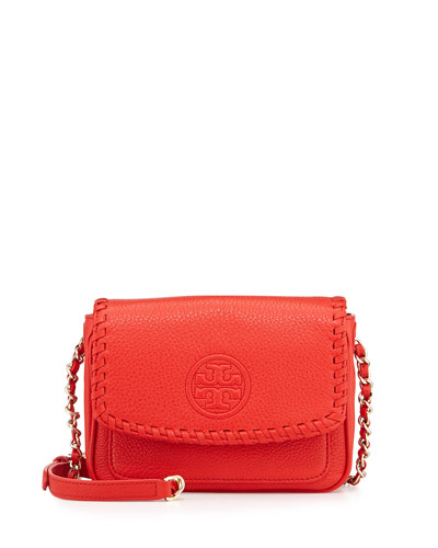Marion Mini Flap Bag, Red