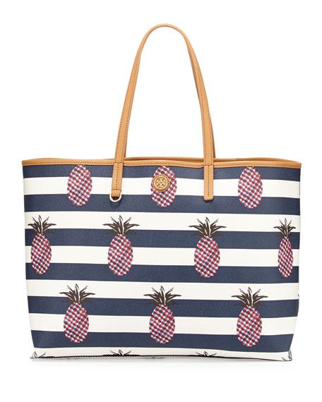 Kerrington Square Shopper Tote, Pineapple Stripe
