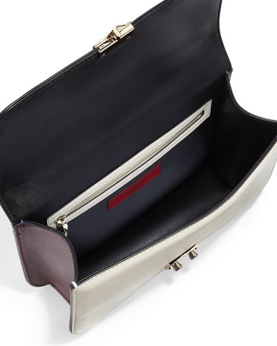 Valentino Colorblock Flap Shoulder Bag 28