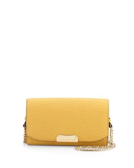 Burberry Grained Leather Crossbody Bag, Saffron Yellow