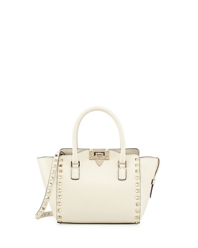 437013a7db Valentino Rockstud Micro Mini Tote Bag, Ivory WOW - JakeDavidson ...
