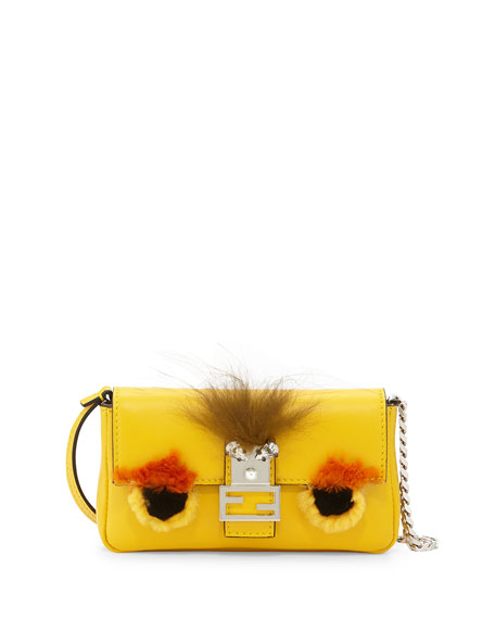 Fendi Micro Monster Baguette, Yellow