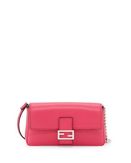 Fendi Micro Leather Baguette, Pink