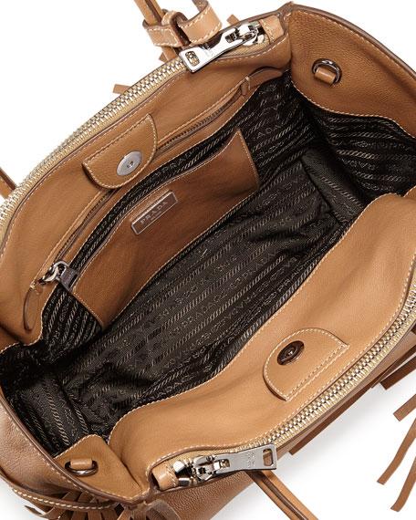 prada handbag website - Prada Fringe Twin Pocket Tote Bag, Caramel (Caramel)