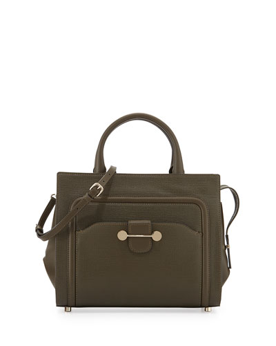 Daphne Leather Crossbody Bag, Dark Olive