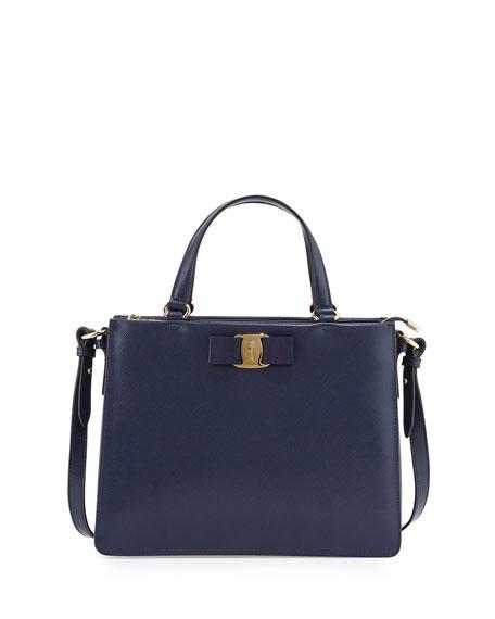 Vara bow tote bag - Blue Salvatore Ferragamo OO6uJaV
