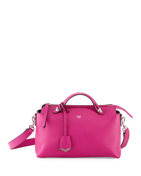 Fendi By The Way Small Leather Satchel Bag, Magenta