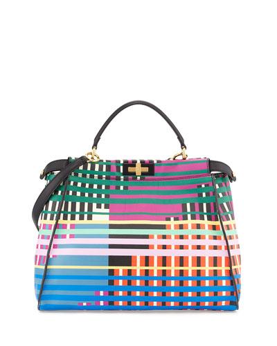 Peekaboo Large Printed Tote Bag, Multicolor