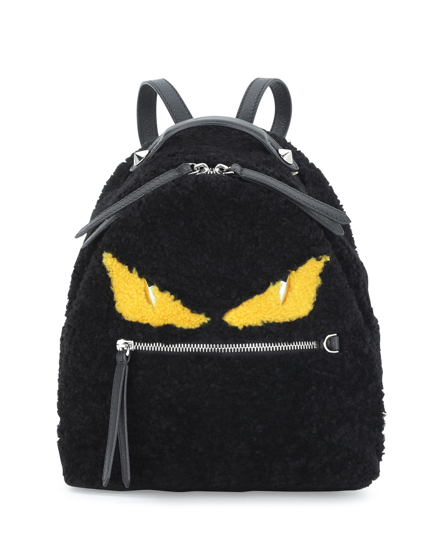 8227003235af Fendi Mini Monster Shearling Fur Backpack