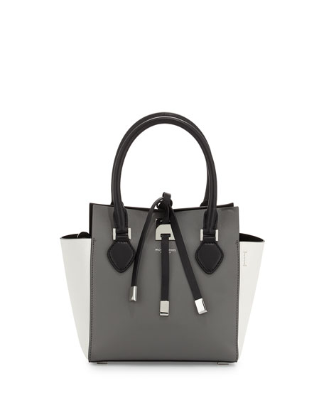 Michael Kors Miranda Extra-Small Colorblock Tote Bag, Slate
