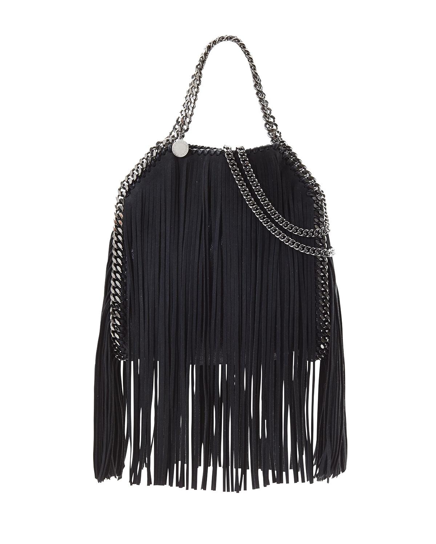 Falabella Mini Fringe Tote Bag Black