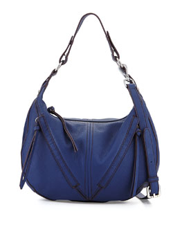 Pamela Hobo Bag, Washed Denim