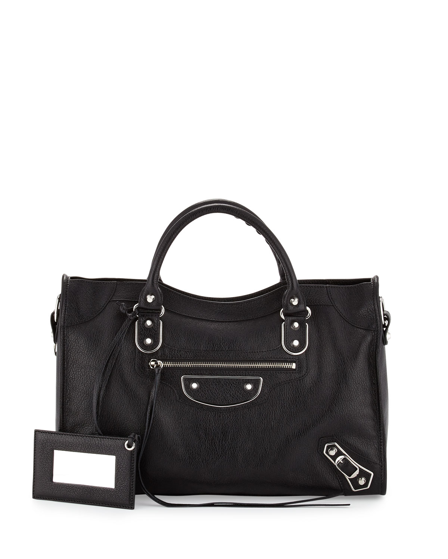 30ee58efbe78 Balenciaga Metallic Edge City Bag