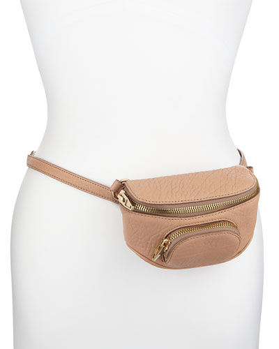 Dumbo Pebbled Belt Bag, Blush