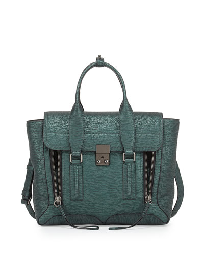 Pashli Medium Satchel Bag, Ivy