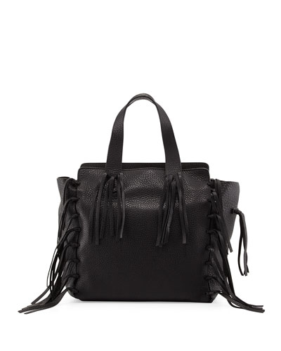 C-Rockee Fringe Shopper Tote Bag, Black
