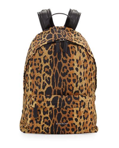 ccd9386ccd3d Givenchy Antigona Nylon Backpack, Leopard Print