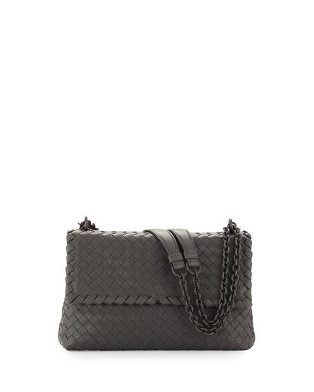 Olimpia Small Shoulder Bag, Light Gray