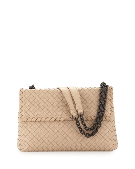 Bottega Veneta Olimpia Medium Shoulder Bag, Off White