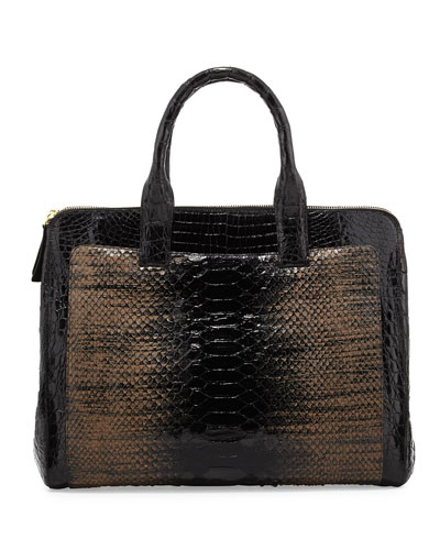 Nancy Gonzalez Crocodile Burgundy Tote Bag High-end Cheap - $675.00