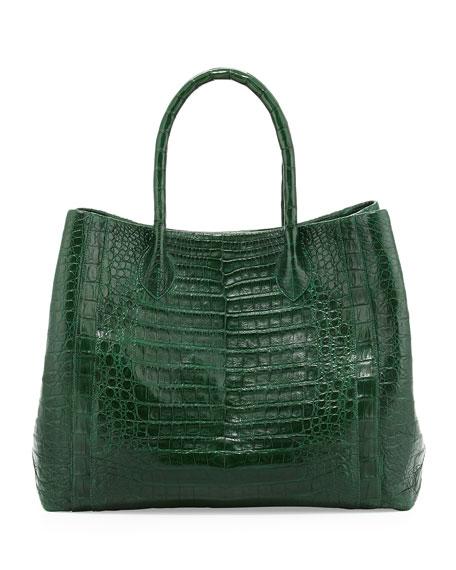 Nancy gonzalez crocodile convertible tote bag green matte for Nancy gonzalez crocodile tote