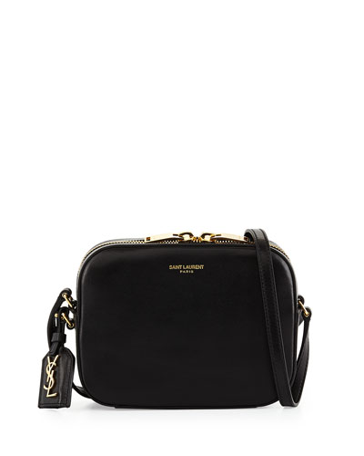 Monogramme Small Leather Crossbody, Black