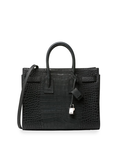 Sac de Jour Stamped Alligator Small Carryall Bag