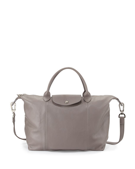 Longchamp Le Pliage Cuir Tote Bag with Strap,