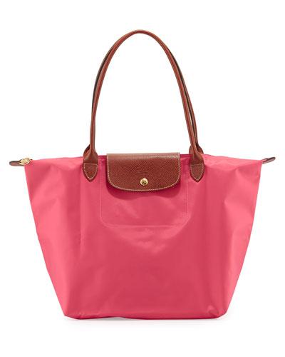 new product d9eae 06e87 Longchamp Le Pliage Large Shoulder Tote Bag, Malabar Pink