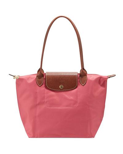 Le Pliage Medium Shoulder Tote Bag, Malabar Pink