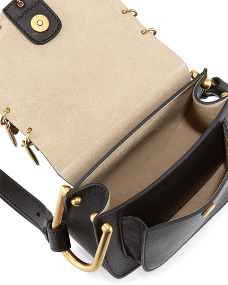 Image 3 of 5: Hudson Mini Charm Shoulder Bag, Black