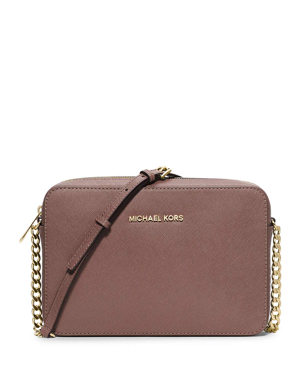 46bc3ca9f083 MICHAEL Michael Kors Jet Set Travel Large Crossbody Bag, Dusty Rose ...