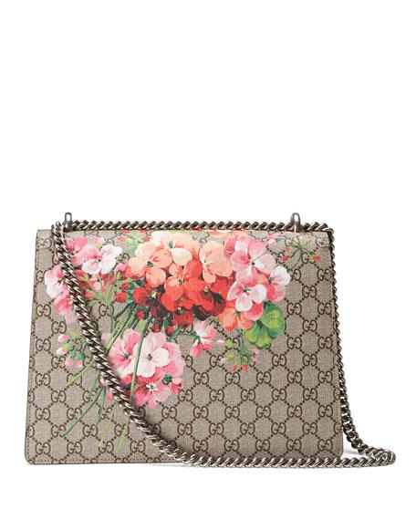 70b88235 Gucci Dionysus GG Blooms Medium Shoulder Bag, Pink/Multi | Neiman Marcus
