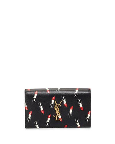 Monogram Lipstick-Print Clutch Bag