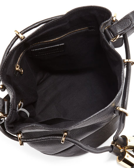 Vicki Vachetta Bucket Bag, Black