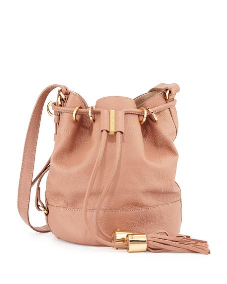 Vicki Vachetta Bucket Bag, Nougat