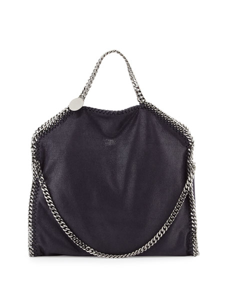 Stella McCartney Falabella Fold-Over Tote Bag, Navy