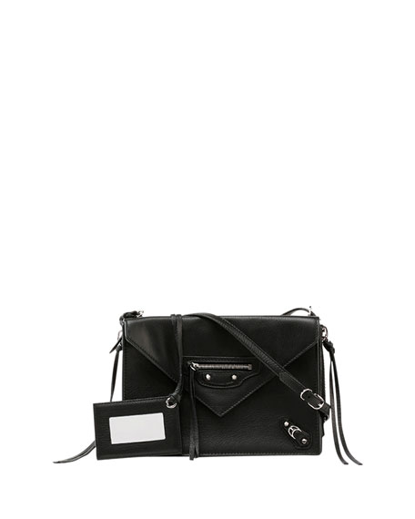 Balenciaga Papier Triple XS Envelope Crossbody Bag, Black