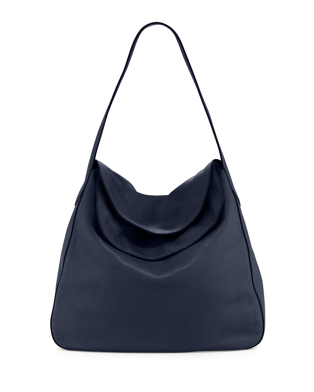 28b41db04757 Prada Vitello Daino Doubled Flap-Top Hobo Bag