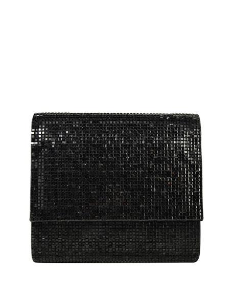 Soho Square-Beaded Crossbody Bag, Jet Black