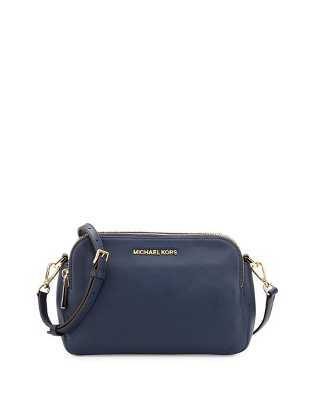 Bedford Medium Double Zip Messenger Bag, Navy