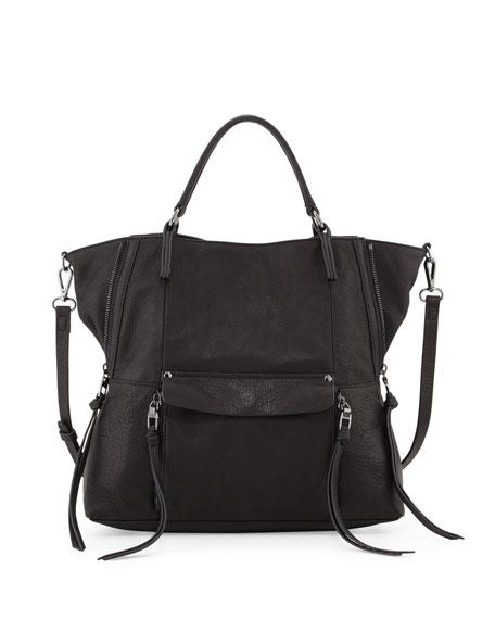 Kooba Everette Leather Satchel Bag, Black