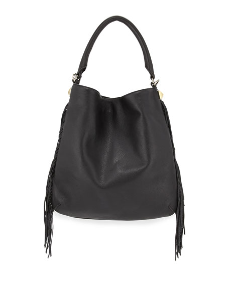 Rebecca Minkoff Clark Fringe Hobo Bag, Black