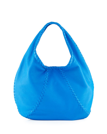 Bottega Veneta Cervo Large Hobo Bag, Cobalt