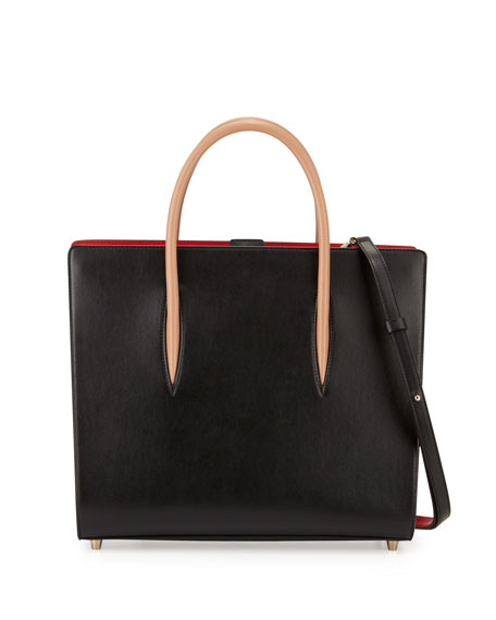 Christian Louboutin Paloma Large Triple-Gusset Tote Bag, Black