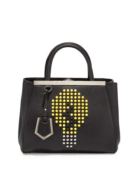 Fendi 2Jours Petite Lightbulb Satchel Bag, Black/Yellow