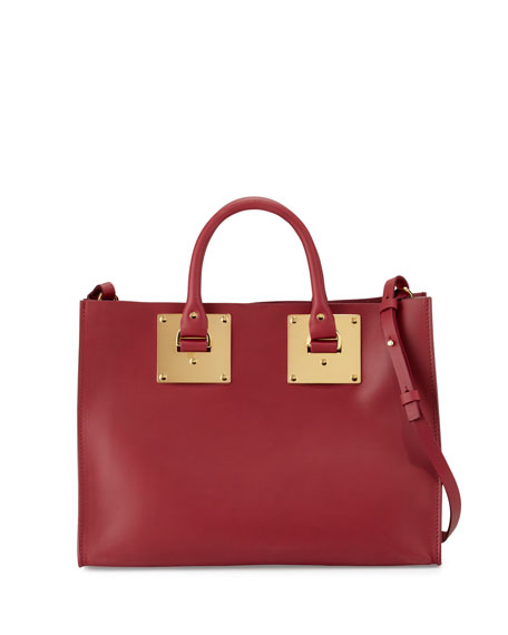 Sophie Hulme Albion Soft East-West Tote Bag, Berry