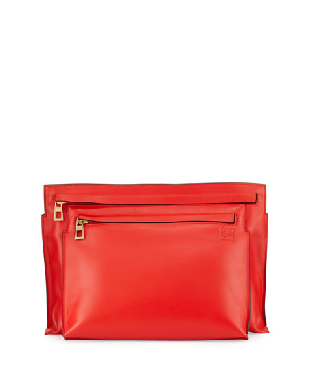 Loewe Smooth Calfskin Large Double-Pouch Crossbody Bag