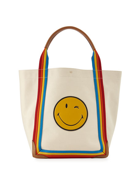 Pont Wink Canvas Tote Bag, Stone